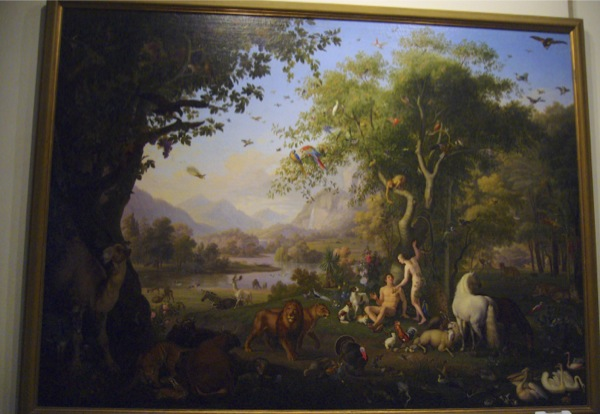 Adam et Eve au paradis terrestre de Peter Wenzel Vatican