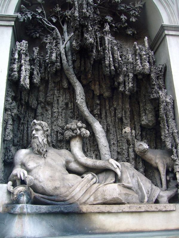 Angle des quatre fontaines à Rome
