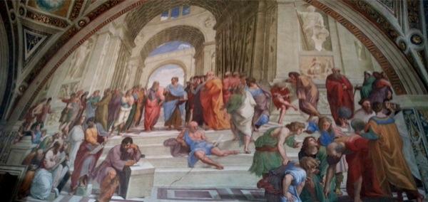 L'école d'Athènes Raphaël au Vatican