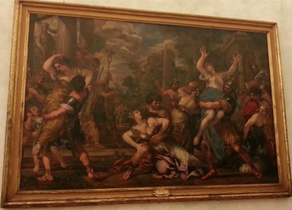 L'Enlèvement des Sabines Pierre de Cortone musées du Capitole à Rome