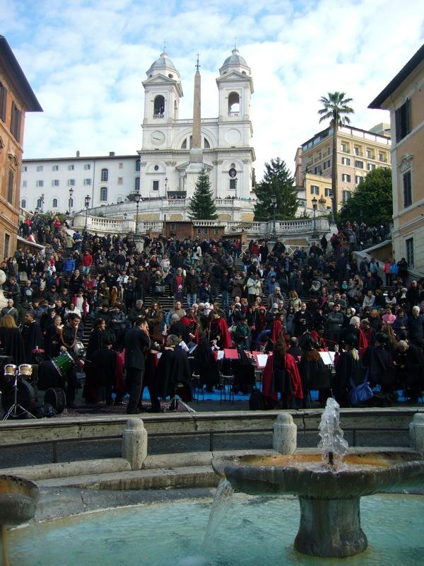 escalier de la Trinité-des-Monts à Rome
