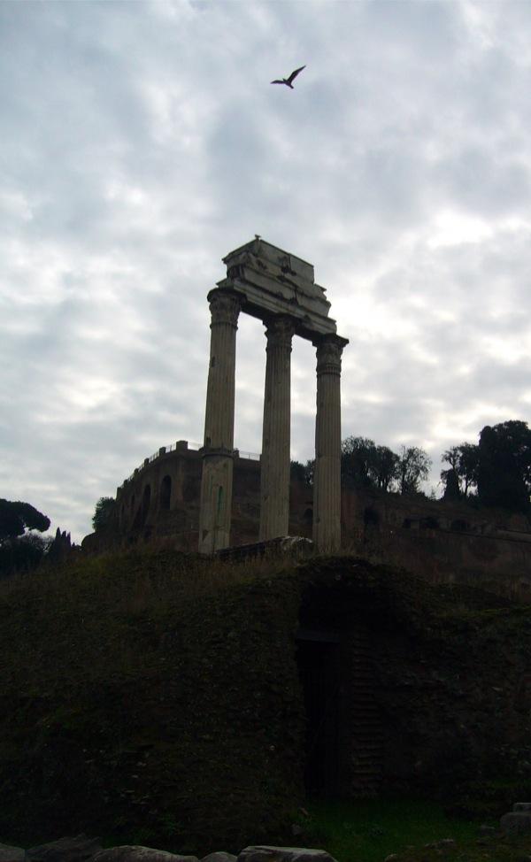 Forum romain temple de Castor et Pollux Rome