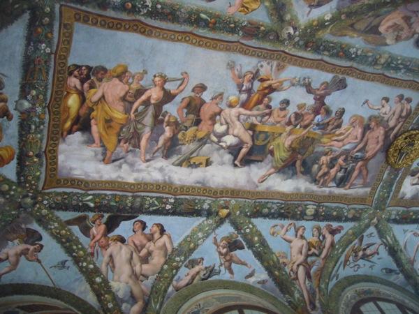 Fresque d'Amour et Psyché, Raphaël Villa Farnèse à Rome