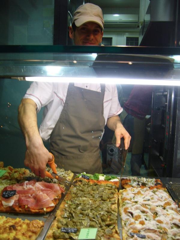 pizza al taglio du Pizzarium à Rome
