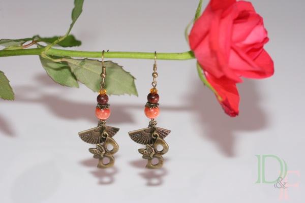 boucles d'oreilles Carnaval de Venise Divine et Féminine bijoux fantaisie