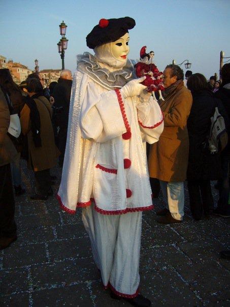 Costume Pierrot la Lune Carnaval de Venise