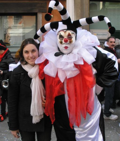 Costume clown bouffon Carnaval de Venise