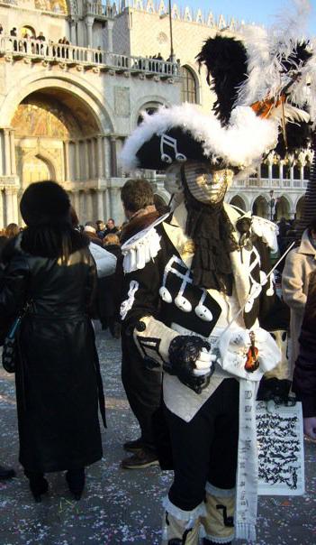 Costume musicien Carnaval de Venise