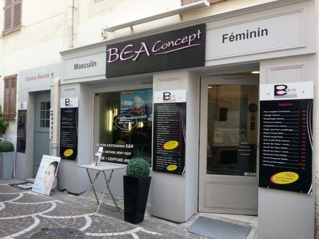 Bea Concept, salon de coiffure, onglerie et soins esthétiques à Antibes.