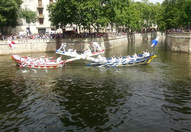 joutes nautiques de la feria de Nîmes 2014