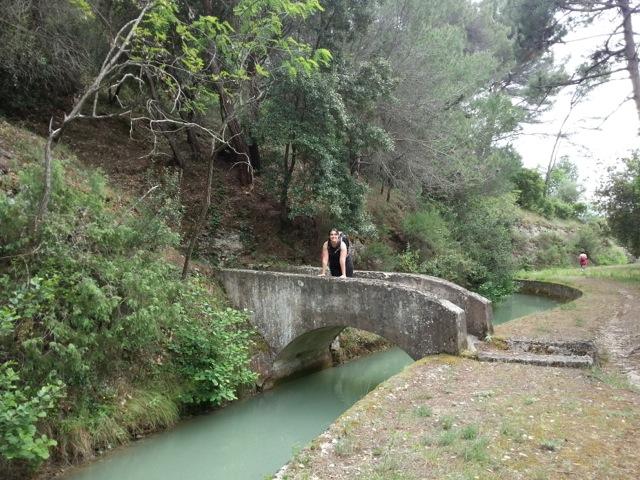 Canal de la Vésubie vu lors de la randonnée dans le vallon obscur du Donaréo à Nice