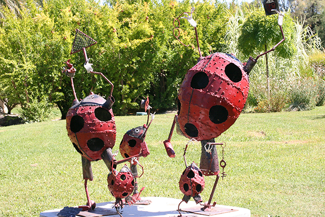 sculpture coccinelles du Parc Phoenix à Nice
