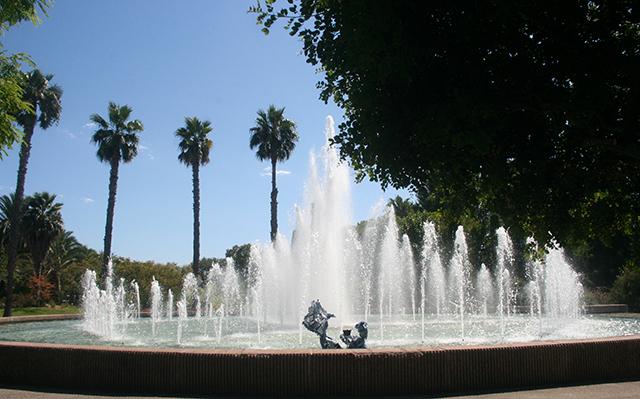 fontaine centrale du Parc Phoenix à Nice