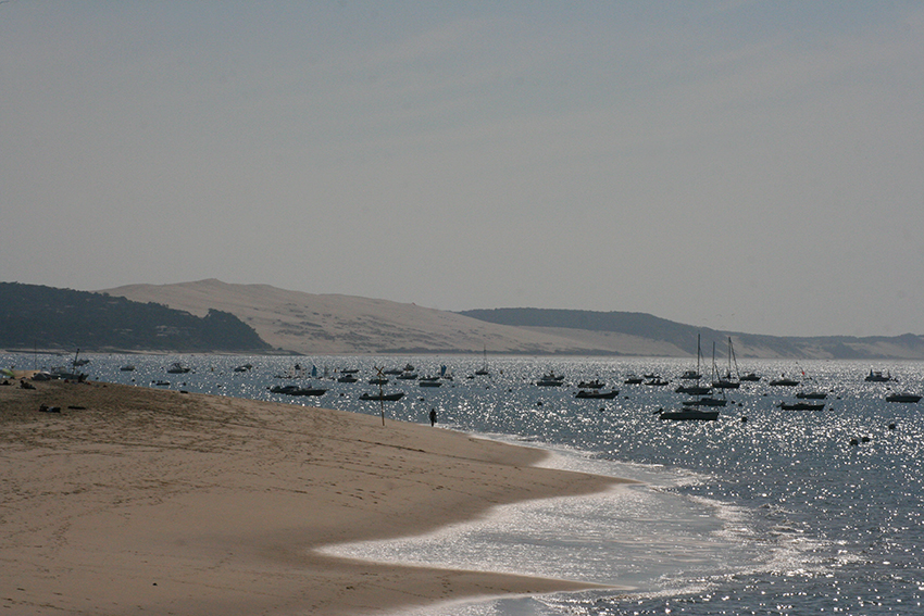 Vue sur la dune du Pyla depuis Arcachon