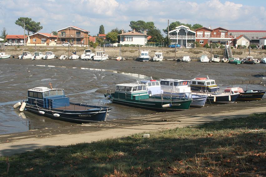 port de La Teste, Arcachon à marée basse