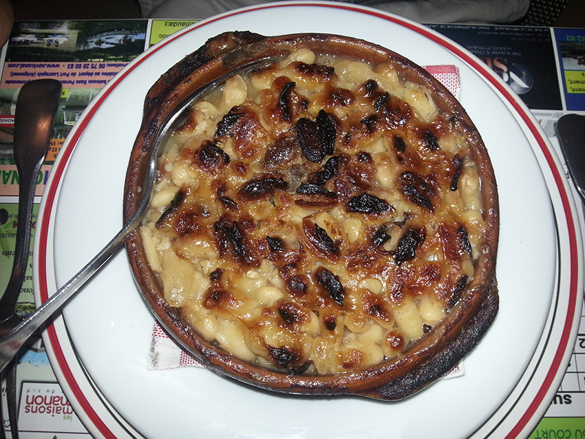 Cassoulet du restaurant le petit Gazouillis à Castelnaudary