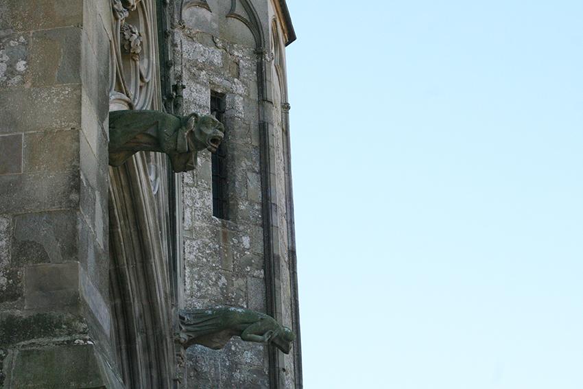 Gargouille église Saint-Nazaire dans la Cité de Carcassonne