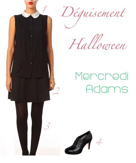 Idée de déguisement d'Halloween en Mercredi de la famille Adams