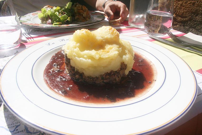 Parmentier d'oie du restaurant la rapière à Sarlat-la-Canéda