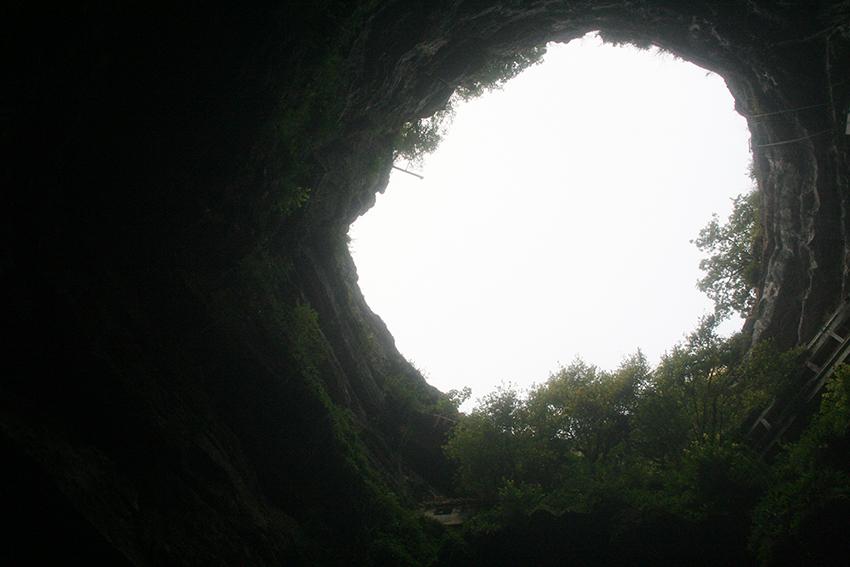 gouffre de Padirac, vue du fond