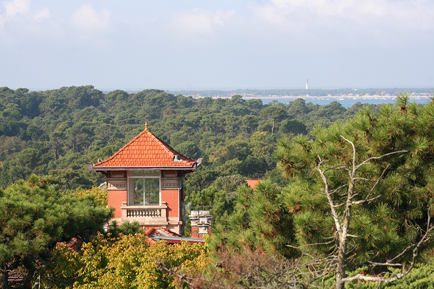 phare du cap ferret depuis la tour de l'observatoire d'Arcachon