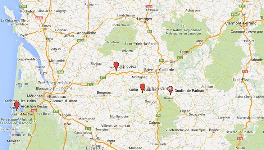 Vacances dans le Sud-Ouest, Arcachon, Périgueux, Sarlat-la-Canéda et le gouffre de Padirac