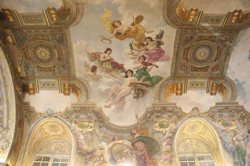 plafond de la Salle des Illustres du capitole de Toulouse