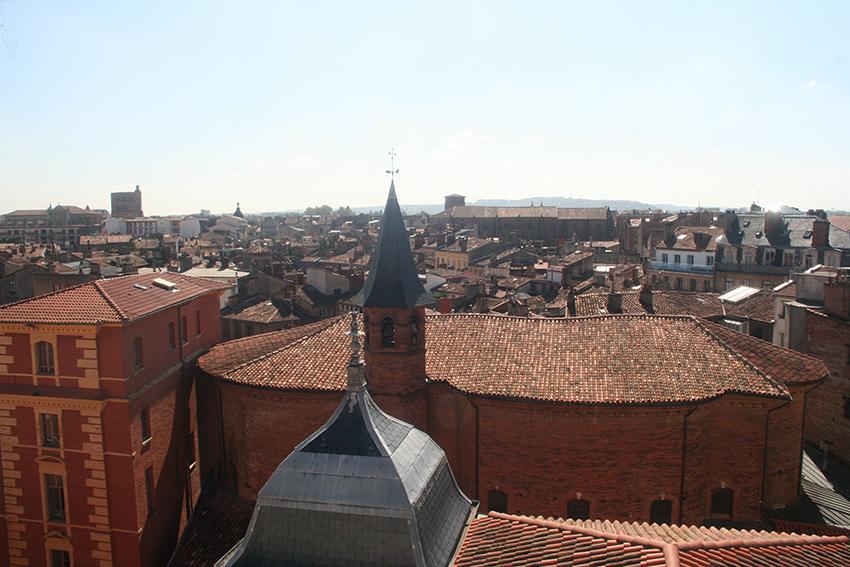 Toulouse vue depuis les Galeries Lafayette, église Saint Jérôme