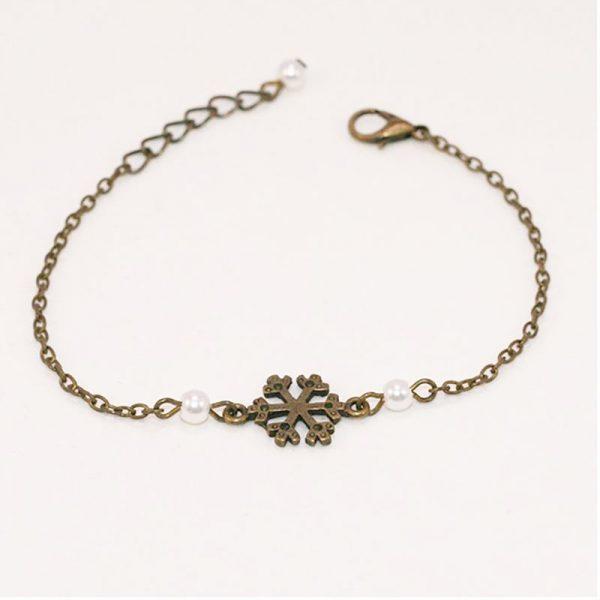 Bracelet flocon de neige bronze par Divine et Féminine.