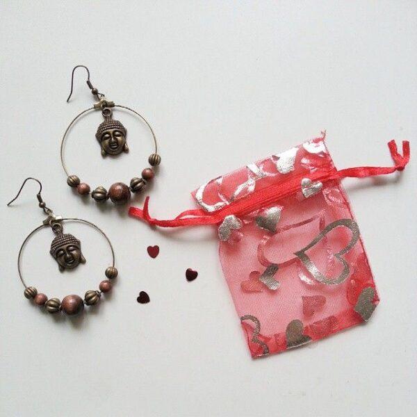 Carte cadeau bijou Divine et Féminine pour offrir par exemple des boucles d'oreilles créole bouddha.
