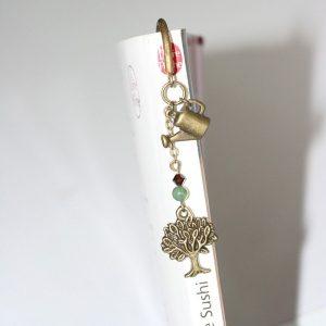 Marque-page arbre jardinier en métal couleur bronze par Divine et Féminine.