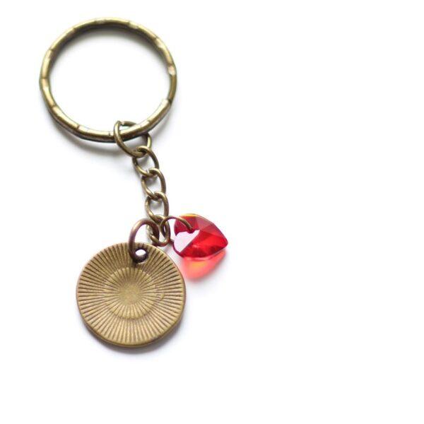 Porte clefs amour en laiton bronze par Divine et Féminine.