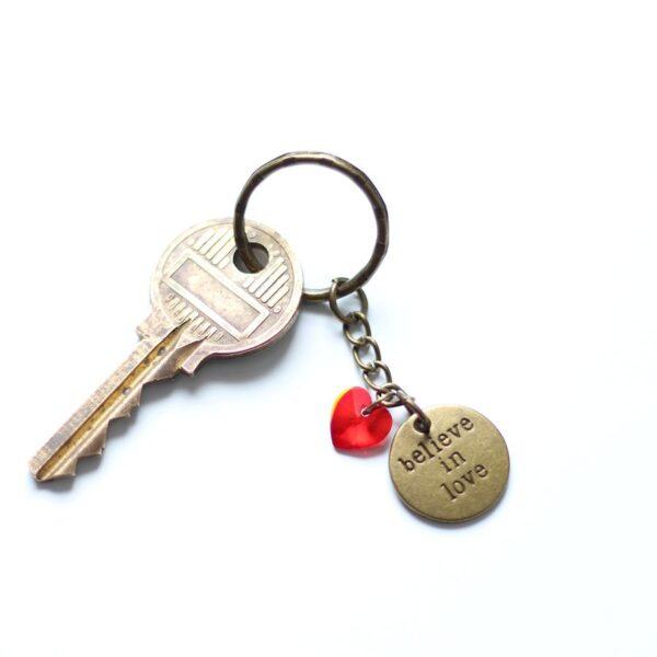 Porte clefs amour coeur par Divine et Féminine.
