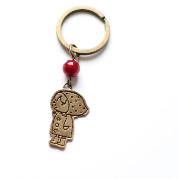 Porte clefs chaperon rouge par Divine et Féminine.