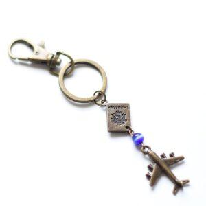 Porte clefs voyage par Divine et Féminine.