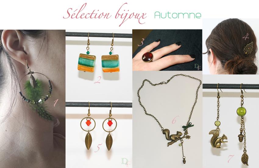 sélection d'accessoires et bijoux automne