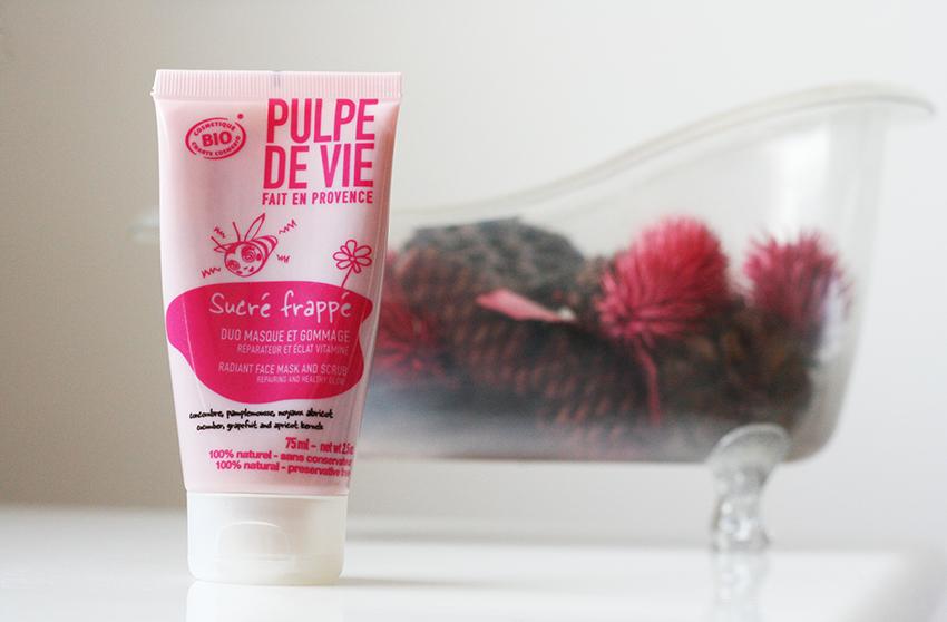 Duo masque gommage sucré frappé de Pulpe de Vie.