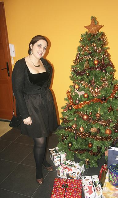 Look de fête pour Noël.