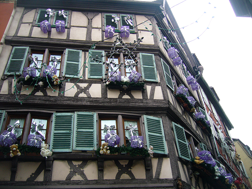 Façades décorées pour le marché de Noël de Strasbourg