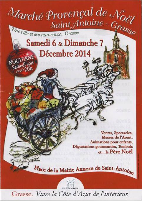 Marché de Noël de Grasse, artisanat dans le quartier Saint-Antoine