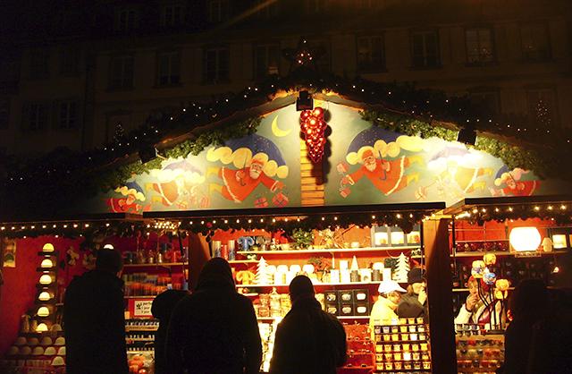 Chalet du marché de Noël de Strasbourg