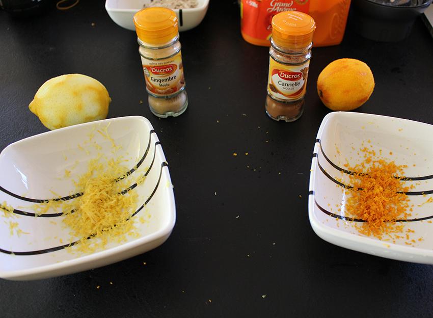 Recette de cuisine des petits biscuits de Noël, orange cannelle, citron gingembre, et chocolat noisettes.