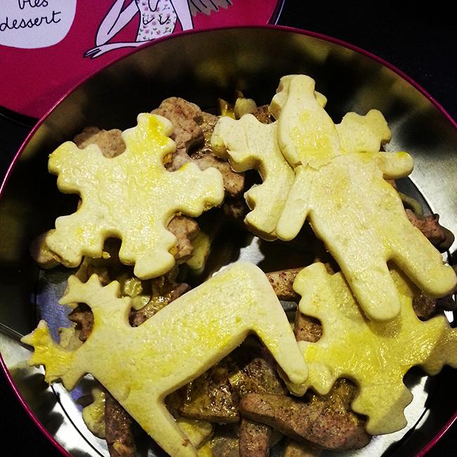 Recette de cuisine des petits biscuits de Noël.