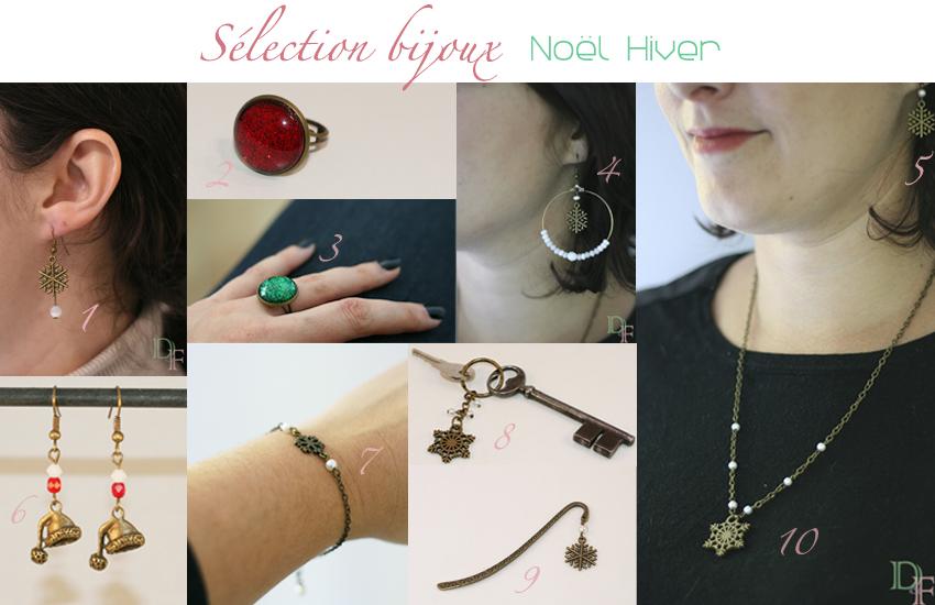 Une sélection de bijoux pour Noël et cet hiver.
