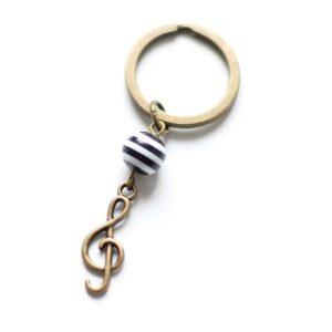 Porte clefs musique clé de Sol par Divine et Féminine.