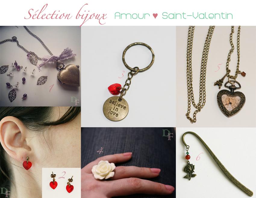 Une sélection de bijoux et accessoires pour la Saint-Valentin.