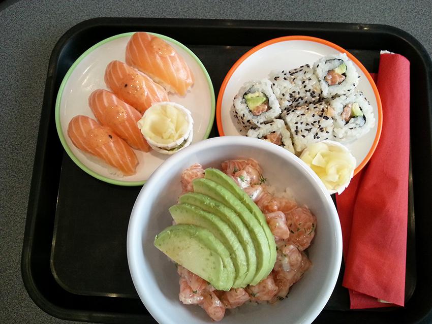 Sushi Spirit d'Antibes et son menu chirashi et sushi à volonté.