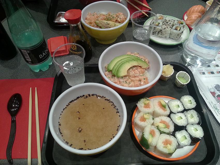 Le menu sushi à volonté, au Sushi Spirit d'Antibes.