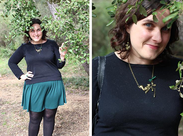Blog mode, look féminin et bijoux écureuil.