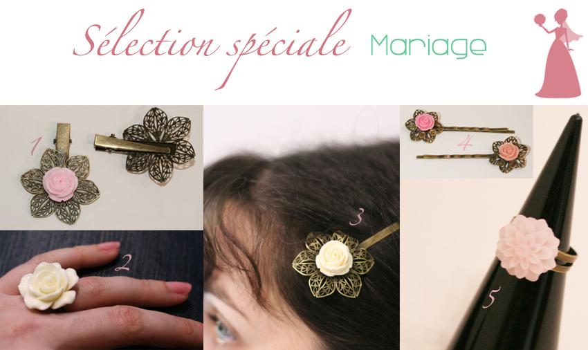 Une sélection de bijoux et d'accessoires de coiffure pour être divine et féminine le jour de son mariage.
